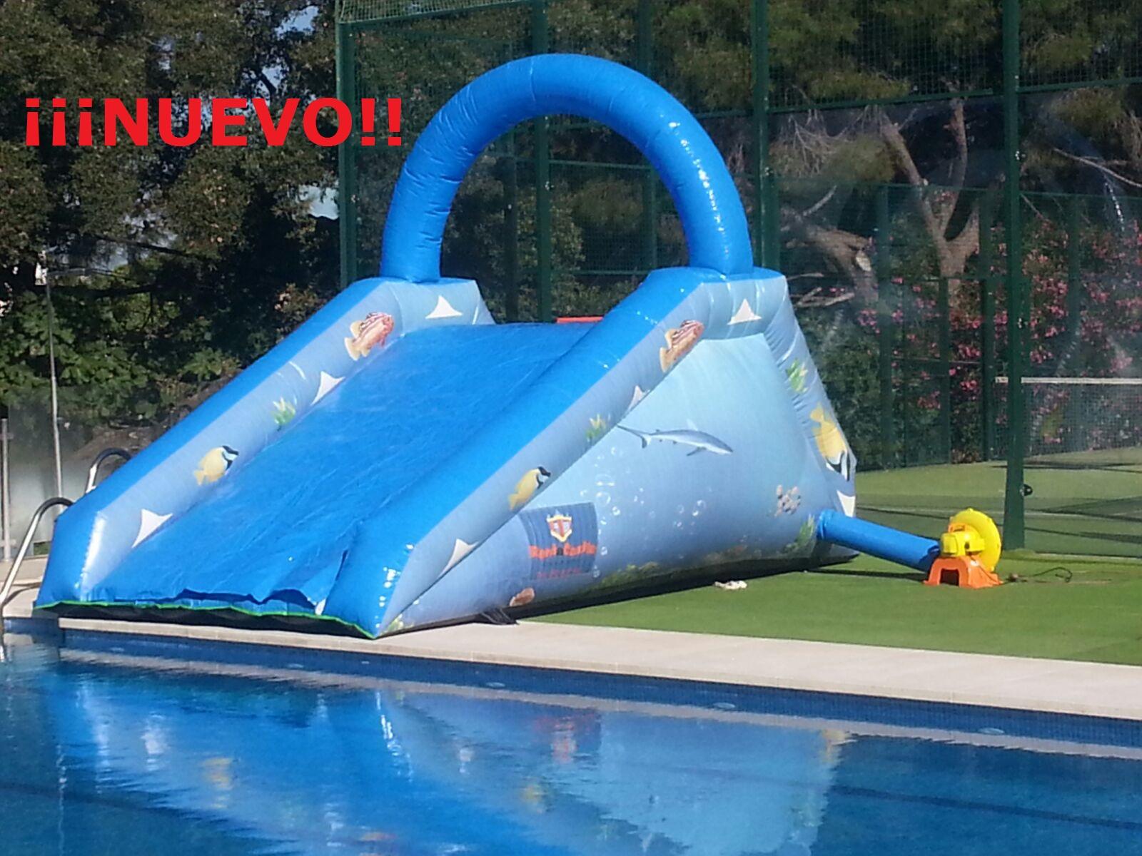 Tobogan piscina acuario 5x3x2 rent a castle - Tobogan hinchable para piscina ...
