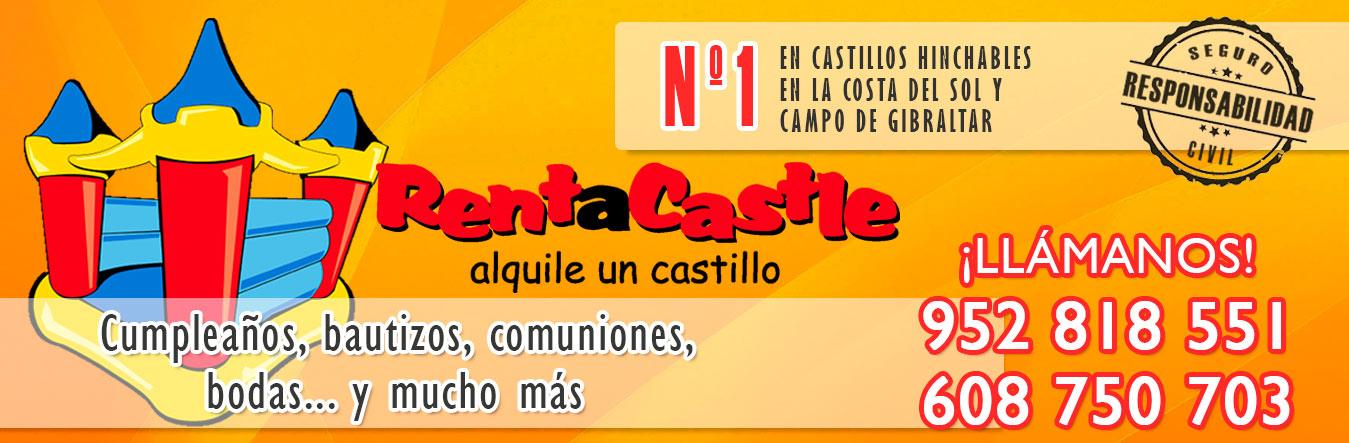 Slider Rent a Castle Alquiler Castillos Hinchables Málaga